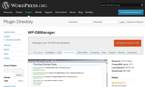 wp db manager