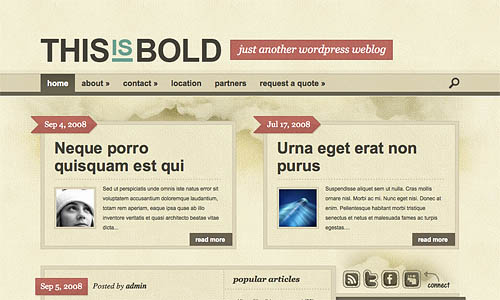 bold wordpress theme