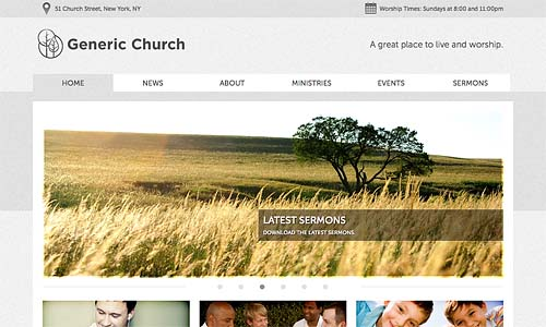 church themer wordpress theme