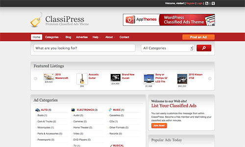 classified wordpress theme