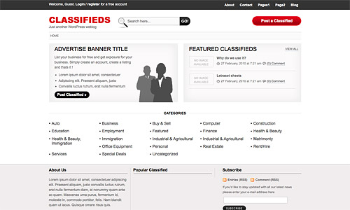 classifieds wordpress theme