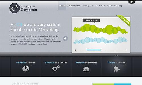 clean classy corporate wordpress theme