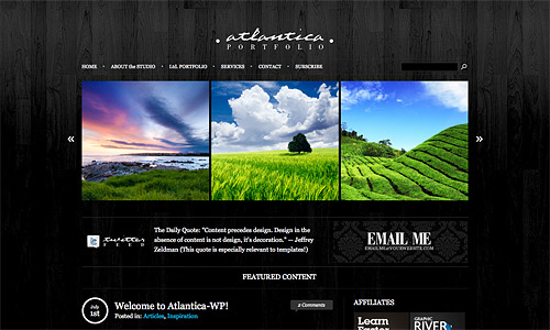 dark atlantica wordpress theme