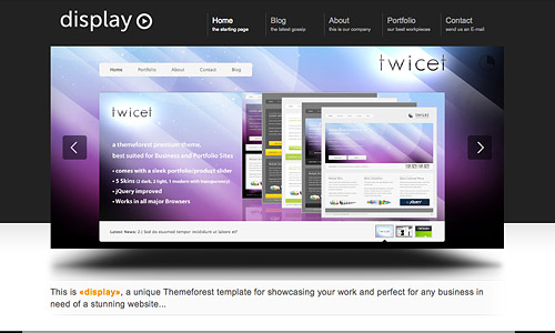 display 3 in 1 wordpress theme