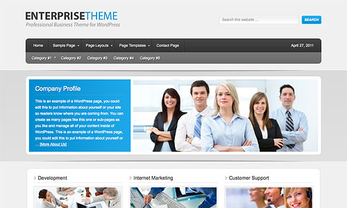 enterprise child wordpress theme