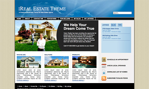 ireal estate wordpress theme