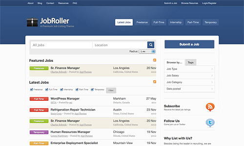 job roller wordpress theme