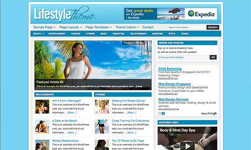 lifestyle child wordpress theme