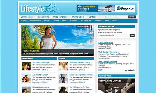 lifestyle child wordpress theme