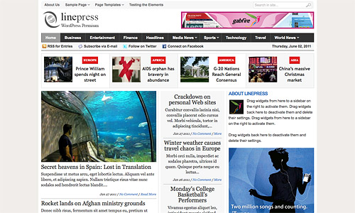 linepress wordpress theme