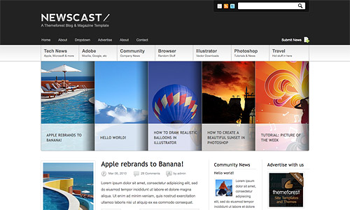 newscast 4 in 1 wordpress theme