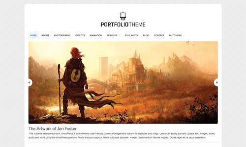organic portfolio wordpress theme