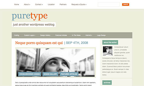 puretype-wordpress-theme