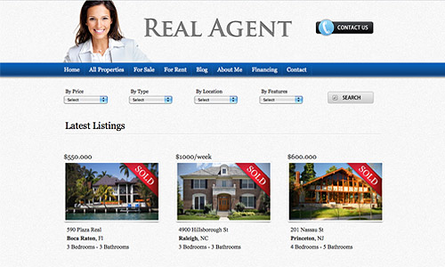 real agent wordpress theme