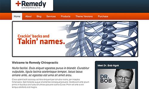 remedy healthcare chiropractic wordpress theme