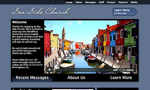 sea side church wordpress theme