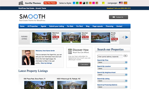 smooth wordpress theme
