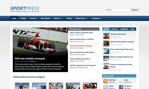 sportpress wordpress theme