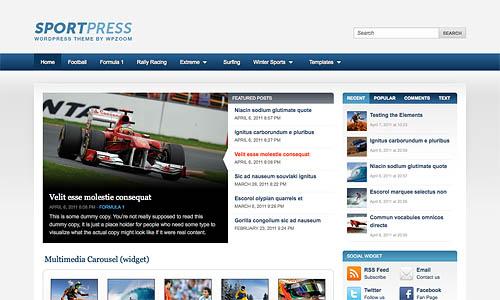 sportpress wordpress theme