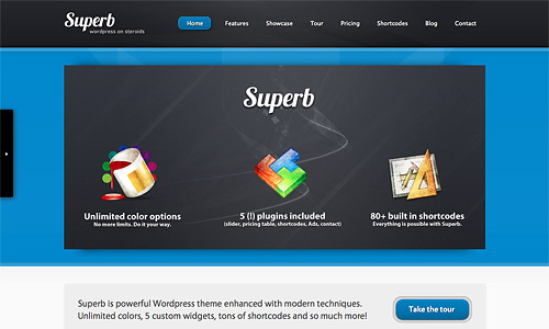 superb wordpress theme