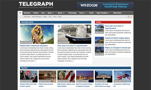 telegraph wordpress theme