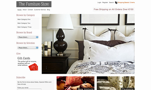 the furniture shop wordpress theme