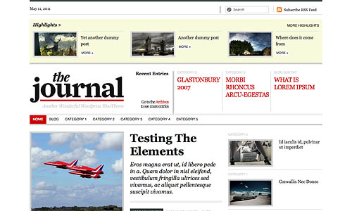 the journal wordpress theme