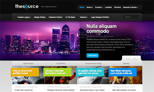 the source wordpress theme