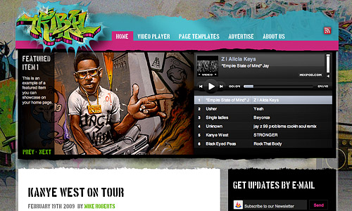 tribal music urban wordpress theme