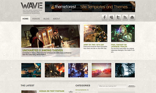 wave wordpress theme