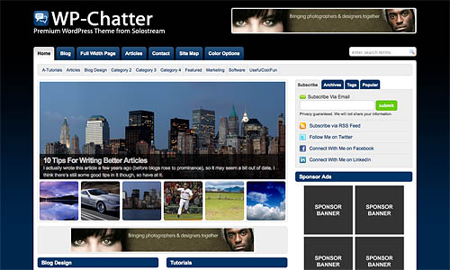 wp chatter wordpress theme