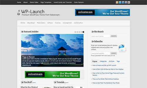 wp launch wordpress theme
