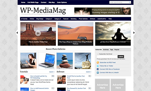 wp mediamag wordpress theme