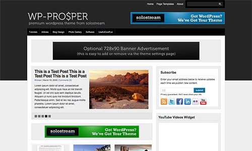 wp prosper wordpress theme