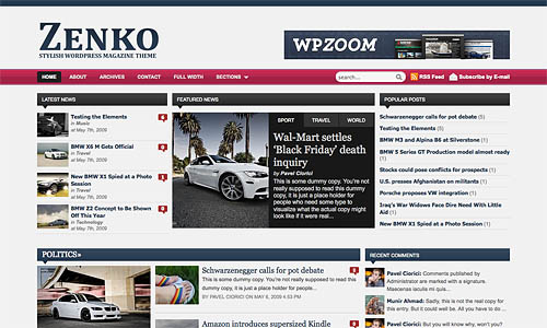 zenko wordpress theme