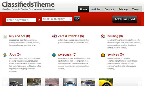 classifieds theme coupon discount