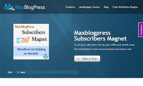 MaxBlogPress count discount
