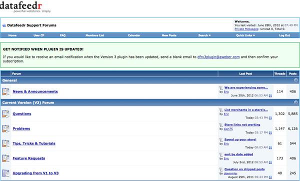 datafeedr forum