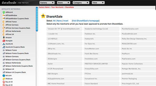 datafeedr shareasale