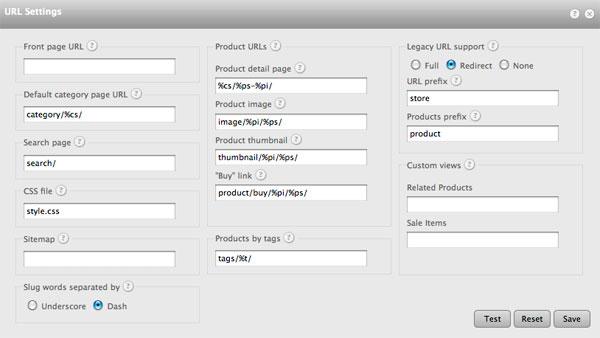 datafeedr url settings