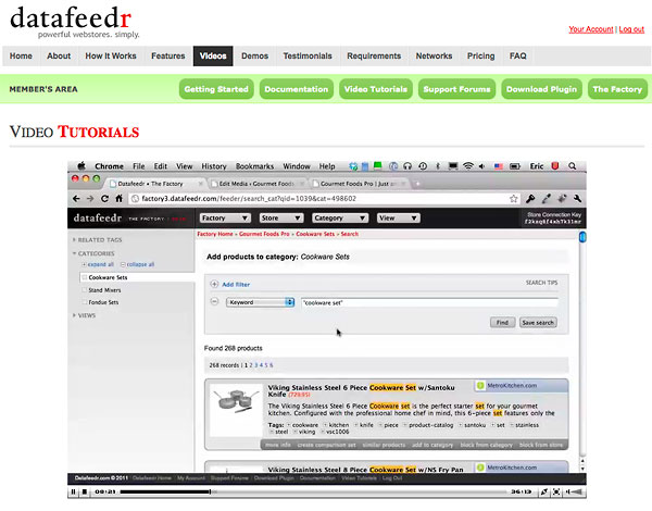 datafeedr video tutorials