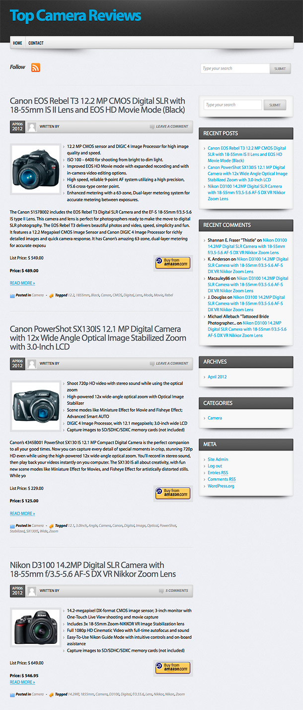 wp robot review camera home page