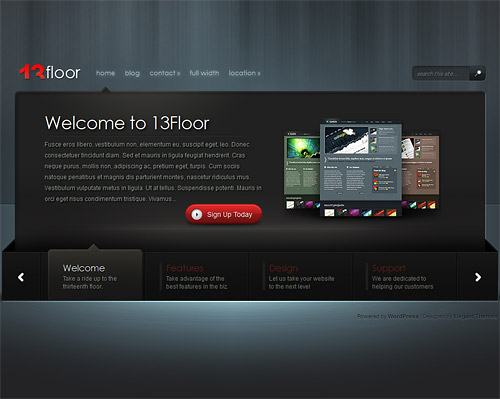 13 floor wordpress theme