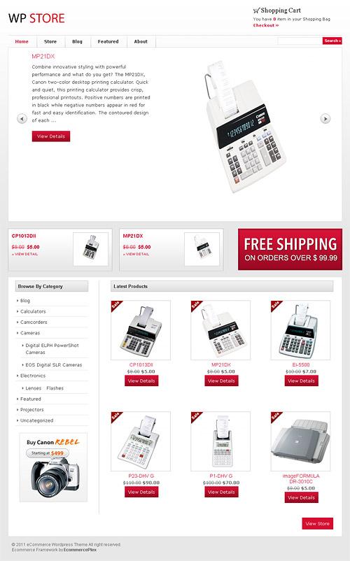 WP store wordpress theme