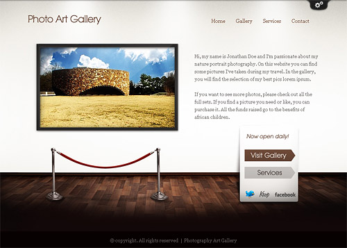 art gallery wordpress theme