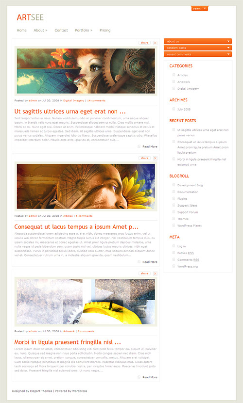 art see wordpress theme