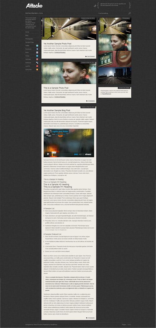attache wordpress theme