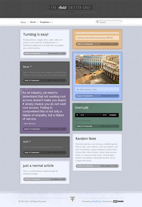 auld wordpress theme