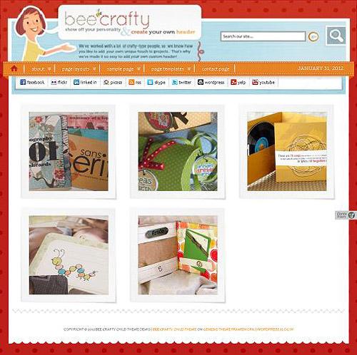 bee crafty wordpress theme