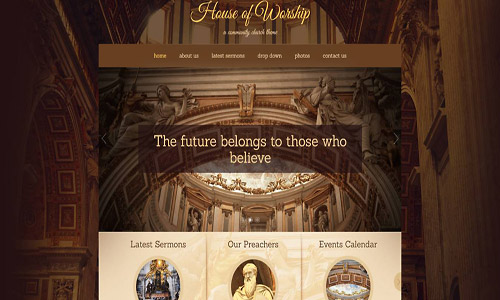 house of worship wordpress theme